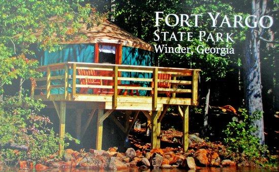 Fort Yargo State Park: Yurt Postcard