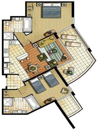 Mantra on Salt Beach: Layout of rooms 4218/9