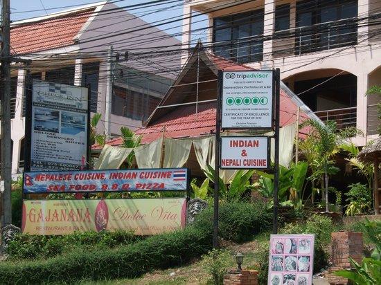 Gajanana/Dolce Vita Restaurant & Bar: Gajanana from outside