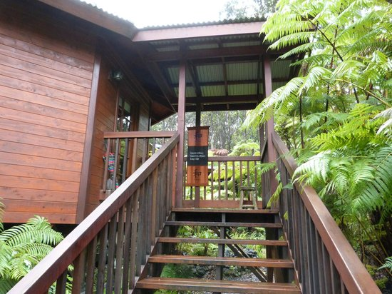 Volcano Village Lodge: Steps to the room