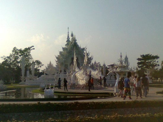 Chiang Rai Province, Thailand: White Temple, look around beautiful temple made by a white color.