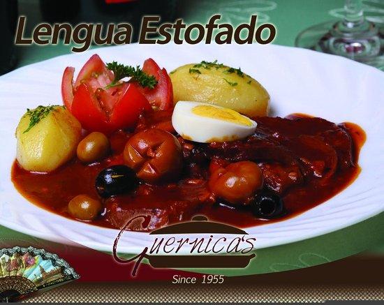 Guernica's Restaurant : Lengua Estofado