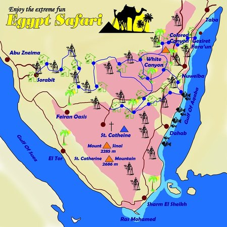 My Safari Map In Sinai Picture Of Dahab South Sinai TripAdvisor - Map of egypt dahab