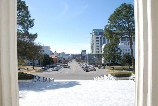 Alabama State Capitol: From the building, in the street where Martin Luther King and his followers walked in 1965