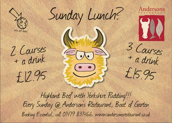 Anderson's Restaurant: Sunday Lunch @ Andersons