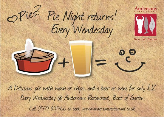 Anderson's Restaurant: Wednesday Night Pie Nights