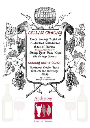Anderson's Restaurant: Sunday Night Cellar Night (excludes July and August)