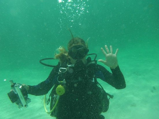 Dreamtime Dive Center: This is the lovely 'UnderwaterPaparazzi' Orelie Favre