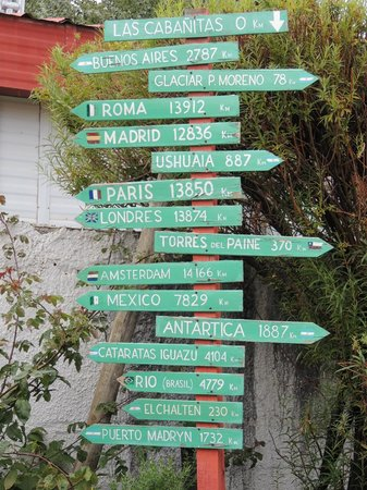 Las Cabañitas: Les panneaux des distances