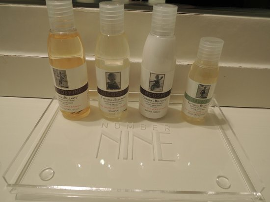 Firenze Number Nine Wellness Hotel: bath products