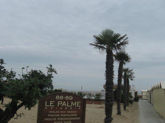 Spiaggia Le Palme 88-89: Mare d'inverno : la spiaggia  Le Palme  (Riccione )