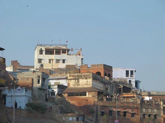 Puja Guest House: Hotel view from Ganga river