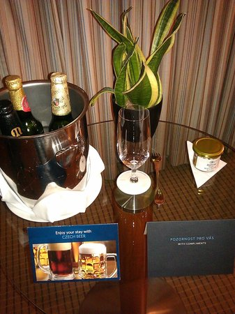 Hilton Prague: Nice welcome for hhonors members!