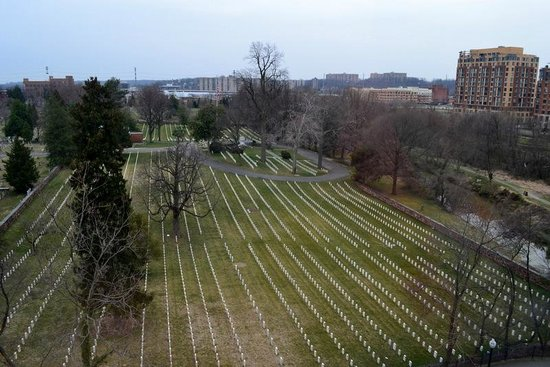 Residence Inn Alexandria Old Town/Duke Street: Alexandria National Cemetery from hotel