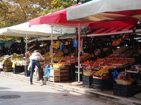 Zadar City Gate: Market close to Roman wall