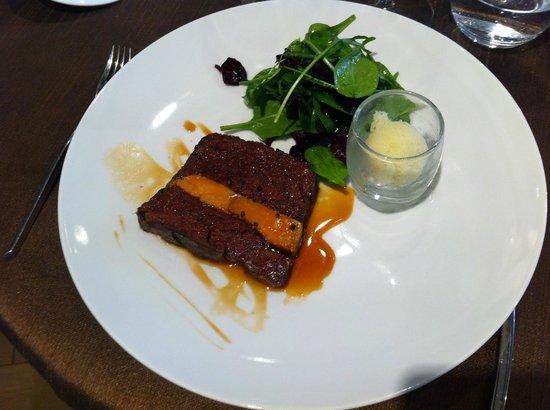 press de boeuf et foie gras picture of le patte noire. Black Bedroom Furniture Sets. Home Design Ideas