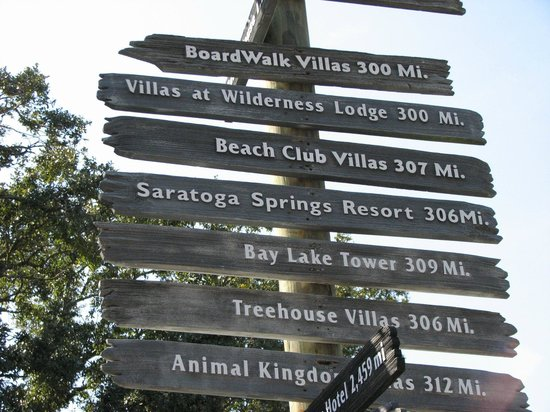 Disney's Hilton Head Island Resort: Distances to the other Disney Resorts