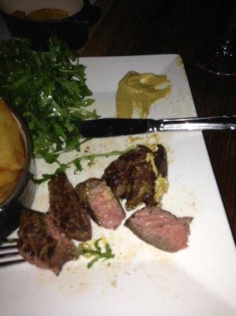 The Peat Spade: medium rare steak - no blood here!!