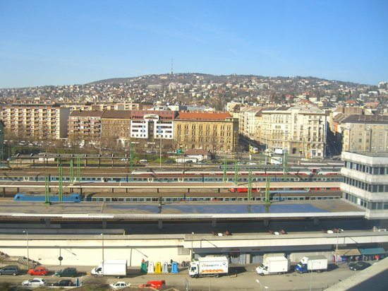 Mercure Budapest Buda: View from Room 809 (back of hotel) overlooking station - 2
