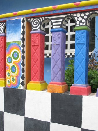 Crayola House: Part of front railing