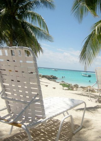 Crystal Waters Bar: Nearby loungers can be rented for the day