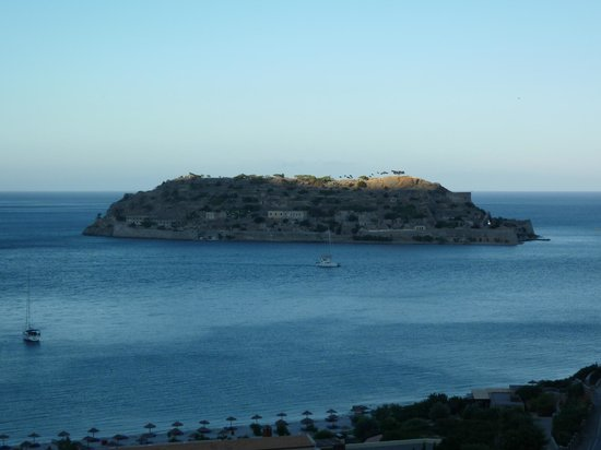 Blue Palace, a Luxury Collection Resort & Spa, Crete: View of Spinalonga taken whilst dining in Flame