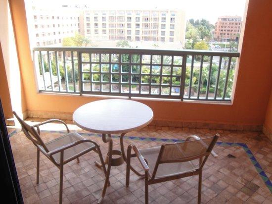 Balcon de la chambre 442