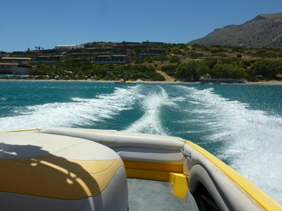 Blue Palace, a Luxury Collection Resort & Spa: View of the resort whilst on our way to Spinalonga