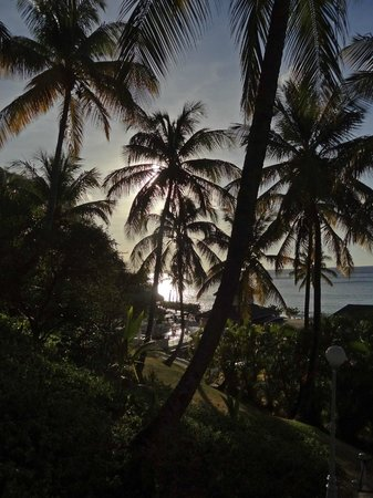 BodyHoliday Saint Lucia: view of beach from Spa hill