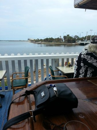 Bluezy's Happy Snapper: From the Outdoor Bar Looking at the Water and Causeway