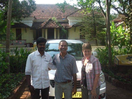 Quinta da Graca: Ready to leave with driver Anil Kumur (Keralataxi.com)