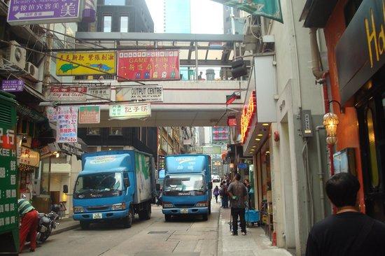 باتر فلاي أون ويلينجتون: Street in front of the hotel