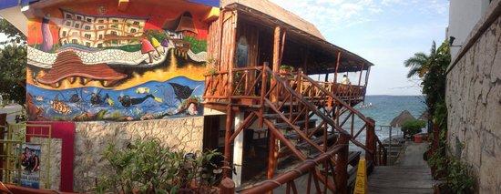Blue Angel Resort: Restaurant and dive shop under