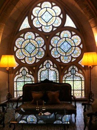 Abbaye de la Bussiere: un salon