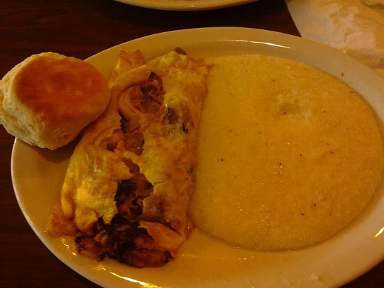 Small seafood omelette with fresh crab, shrimp and cheese but almost ...