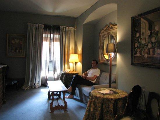 Residenza di Ripetta: Woonkamer in onze duplex kamer