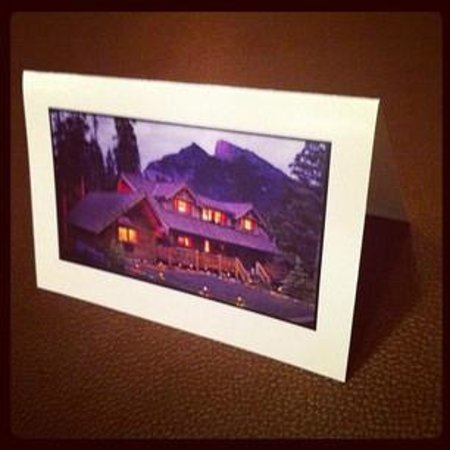 Banff Log Cabin B&B: Welcome to the Cabin card