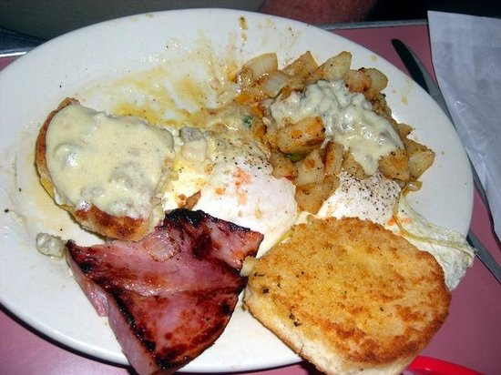 Comeaux's Cafe : Hungry Man Breakfast with Ham