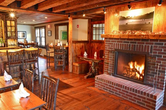 Essex Inn on the Adirondack Coast: Dining in the rustic splendor of the Tavern, Dining Room, or serene comfort of the Parlor Room.