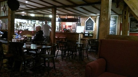 Bridge Inn: The warm & welcoming bar restaurant area from our table