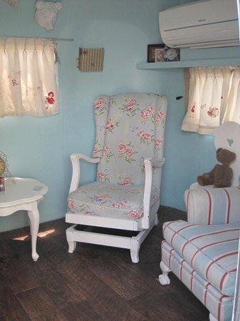 Grand Daddy Hotel: inside an airstream trailer (Goldilocks)