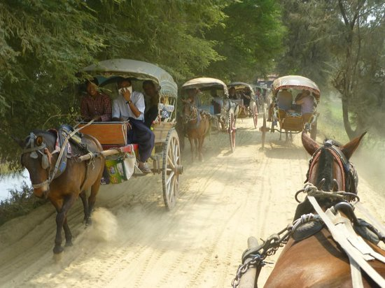 Mandalay, Burma: Horse & cart Ava