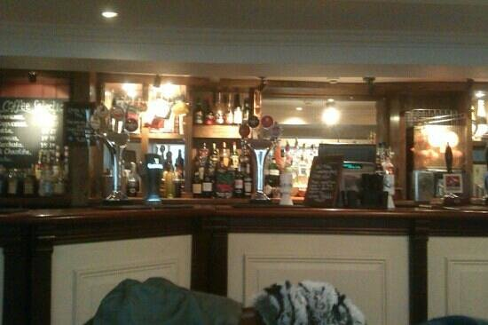 Theoc House: A really well stocked bar .