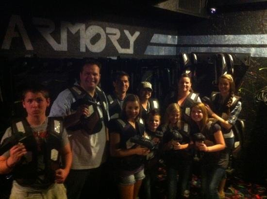 Kids vs Adults   kids won    - Picture of T Rex Laser Tag
