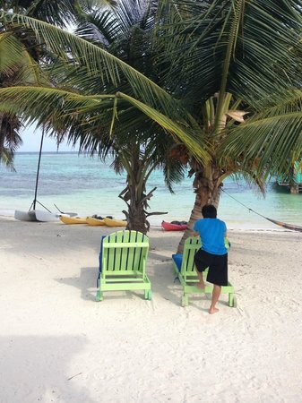 Tranquility Bay Resort: son getting a rest after lots of diving , snorkeling, fishing