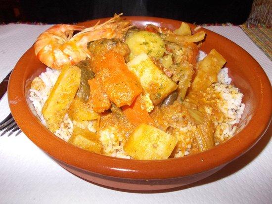 Alounak Restaurant : alounak - tajine con limone e gamberetti