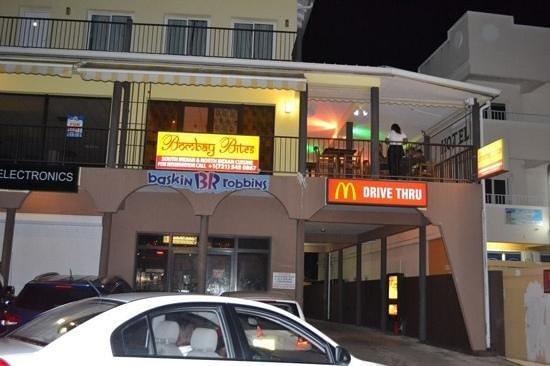 Bombay Bites Indian Restaurant: Outside View of Bombay Bites, St. Maarten