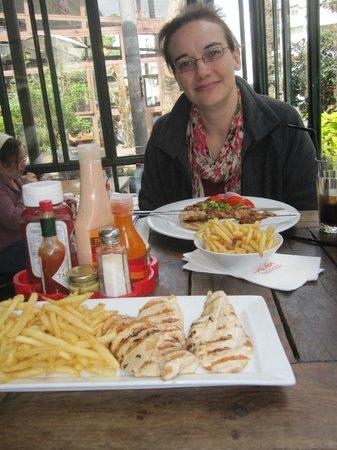 Agadir Burger: Chicken meal and chicken kebab.