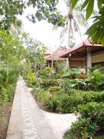 Bali Bhuana Beach Cottages: surrounding garden