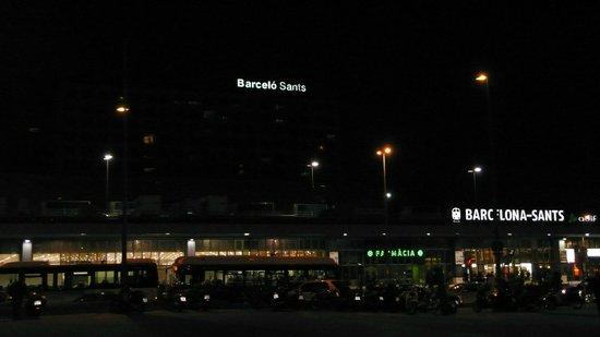 Barcelo Sants: Hotel Vista De Noche